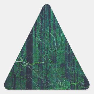 Sticker Triangulaire Forêt verte