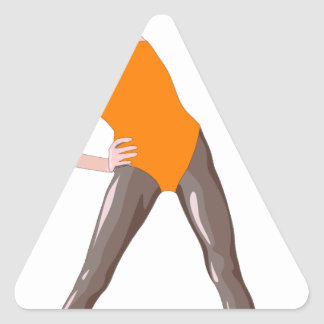 Sticker Triangulaire forme physique 80s