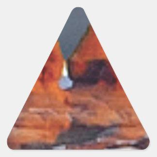 Sticker Triangulaire formes des roches rouges