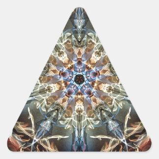 Sticker Triangulaire Fractales de fantaisie et d'amusement avec les