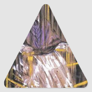Sticker Triangulaire Francis Bacon - papes criards