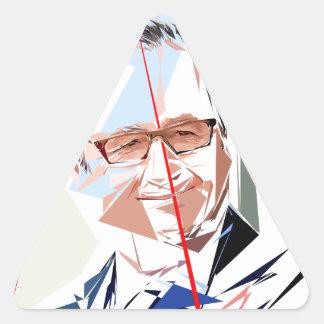 Sticker Triangulaire François Hollande
