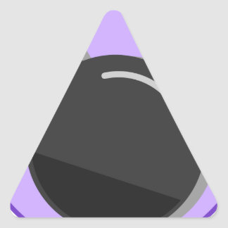Sticker Triangulaire Fusée pour bombe