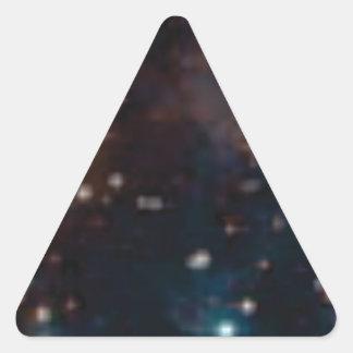 Sticker Triangulaire galaxie de manière laiteuse