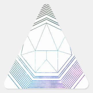Sticker Triangulaire Galaxie de polygone