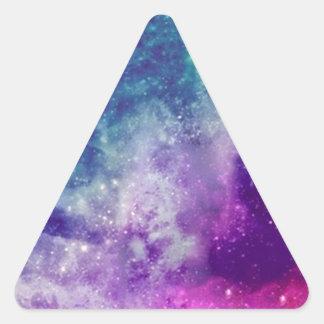Sticker Triangulaire Galaxie magique
