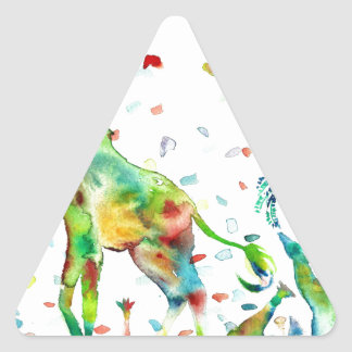 Sticker Triangulaire GIRAFE .2 d'aquarelle