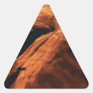 Sticker Triangulaire gonflement de la roche rouge