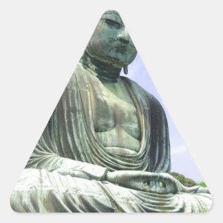 Sticker Triangulaire Grand Bouddha