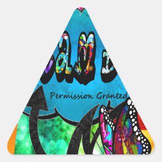 Sticker Triangulaire Grand collage inspiré rêveur