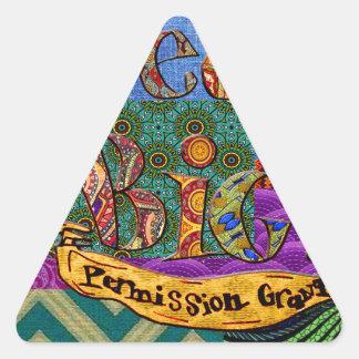 Sticker Triangulaire Grand collage terreux rêveur