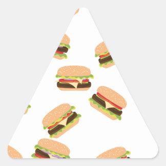 Sticker Triangulaire Grand hamburger savoureux