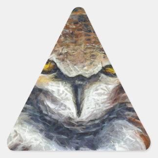 Sticker Triangulaire Grand hibou grincheux d'oreille