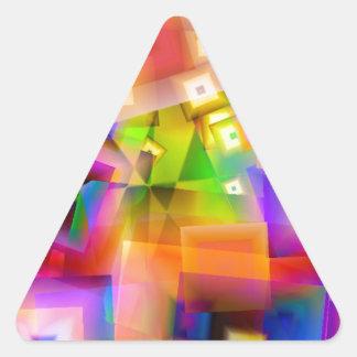 Sticker Triangulaire Graphique-art coloré