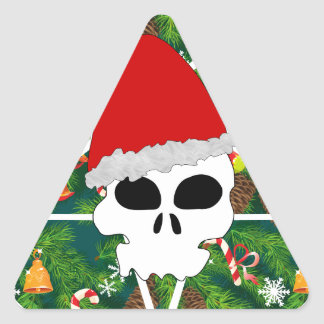 Sticker Triangulaire grêle père Noël