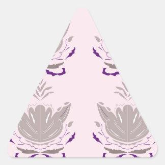 Sticker Triangulaire Gris merveilleux de rose de lotus
