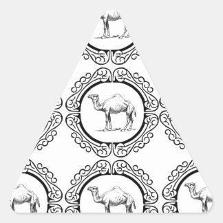 Sticker Triangulaire Groupe de chameau