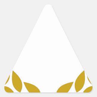 Sticker Triangulaire Guirlande de laurier