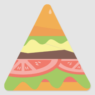 Sticker Triangulaire Hamburger