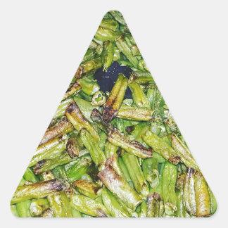 Sticker Triangulaire Haricots verts…
