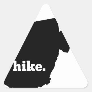 Sticker Triangulaire Hausse la Virginie Occidentale
