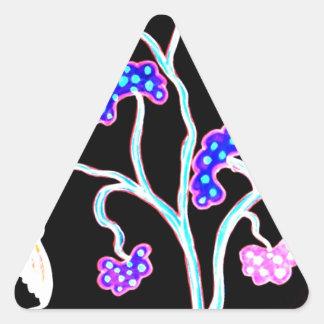 Sticker Triangulaire Hirondelle-et-fruit-arbre-Heureux-Anniversaire