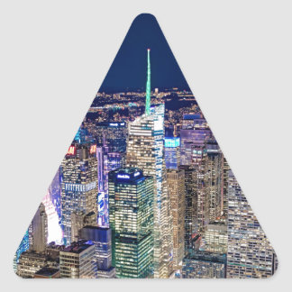 Sticker Triangulaire Horizon de New York City