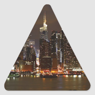Sticker Triangulaire Horizon de nuit de Manhattan