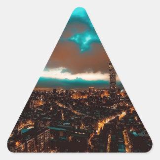 Sticker Triangulaire Horizon de nuit de Taïpeh
