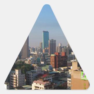 Sticker Triangulaire Horizon de Taïwan Taichung