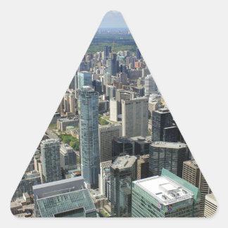Sticker Triangulaire Horizon de ville de Toronto