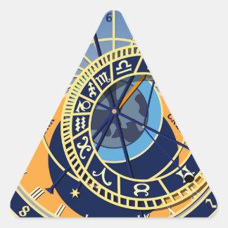 Sticker Triangulaire Horloge astrologique de Prague