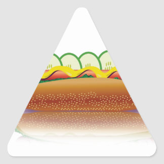 Sticker Triangulaire hot-dog
