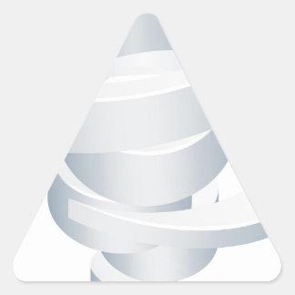 Sticker Triangulaire Icône de la tornade 3d d'ouragan de cyclone de
