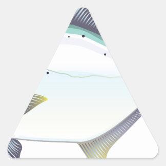 Sticker Triangulaire Illustration de vecteur de poissons de la Floride