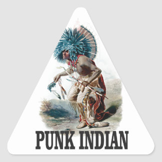 Sticker Triangulaire Indien punk bleu