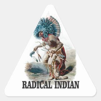 Sticker Triangulaire Indien radical