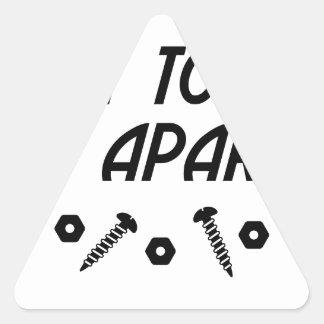 Sticker Triangulaire It Apart de M. Took