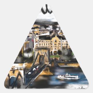 Sticker Triangulaire J'aime Budapest