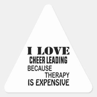 Sticker Triangulaire J'aime l'acclamation menant puisque la thérapie