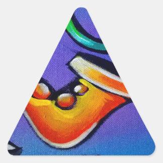 Sticker Triangulaire Jazz et tambours