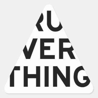 Sticker Triangulaire Je cours chaque chose