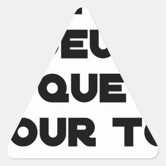 Sticker Triangulaire JE N'AI D'OEUFS QUE POUR TOI - Jeux de mots - Fran
