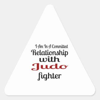 Sticker Triangulaire Je suis dans un rapport commis avec le combattant