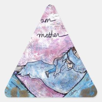 Sticker Triangulaire Je suis mère