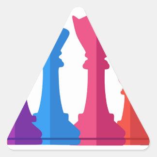 Sticker Triangulaire Jeu d'échecs