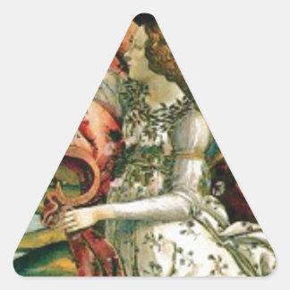 Sticker Triangulaire jeune fille dans la blanchisserie de robe