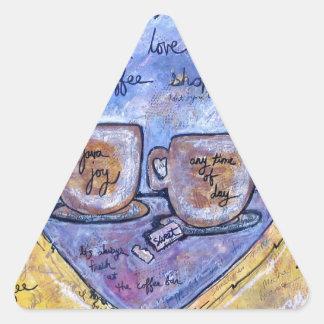 Sticker Triangulaire Joie de Java