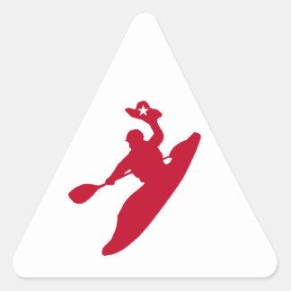 Sticker Triangulaire Kayak de rodéo