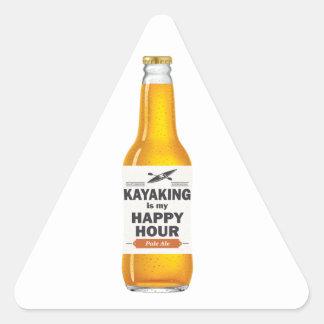Sticker Triangulaire Kayaking est mon heure heureuse